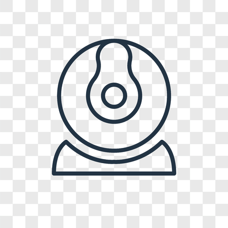 Webcam vector icon isolated on transparent background, Webcam logo concept Illustration