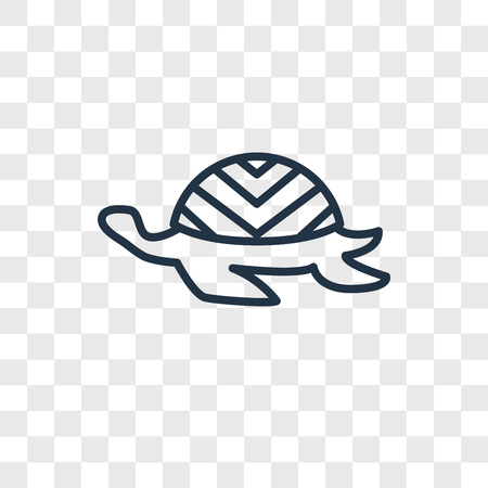 Tortoise vector icon isolated on transparent background, Tortoise logo concept