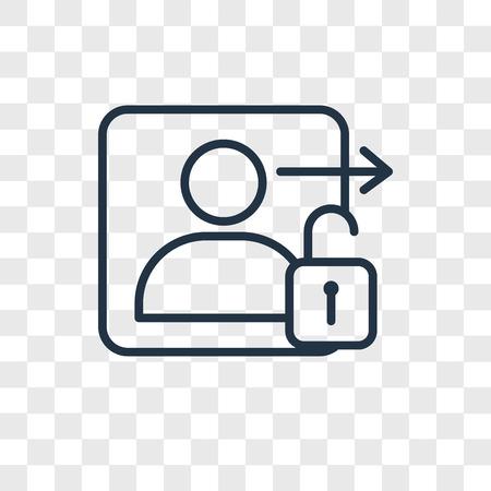 Icono de vector de inicio de sesión aislado sobre fondo transparente, concepto de logo de inicio de sesión