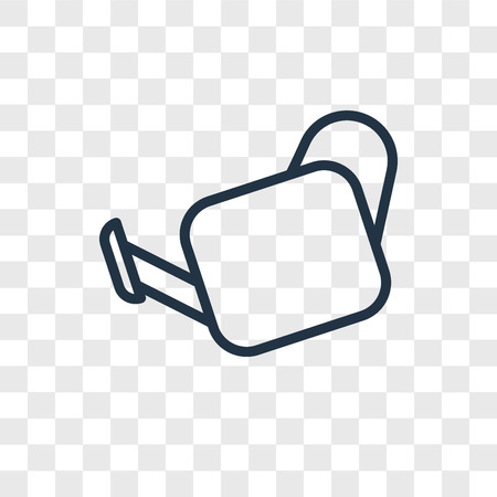 Watering Can vector icon isolated on transparent background, Watering Can logo concept Illustration