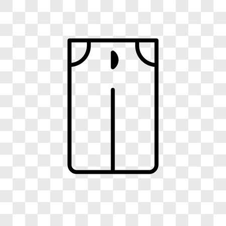 Pants vector icon isolated on transparent background, Pants logo concept 向量圖像