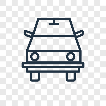 Road sweeper vector icon isolated on transparent background, Road sweeper logo concept Ilustracja