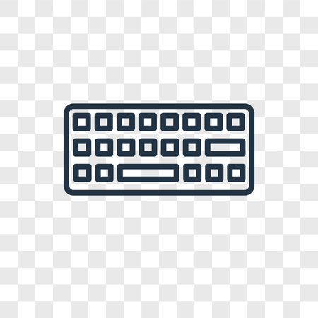 Keyboard vector icon isolated on transparent background, Keyboard logo concept Illustration