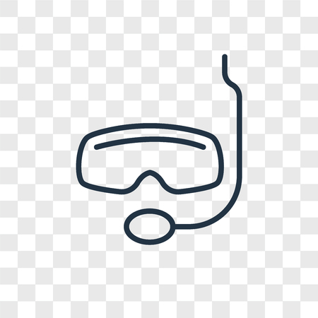 Snorkel vector icon isolated on transparent background, Snorkel logo concept Illustration