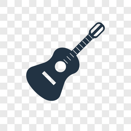 Guitar vector icon isolated on transparent background, Guitar logo concept Illustration
