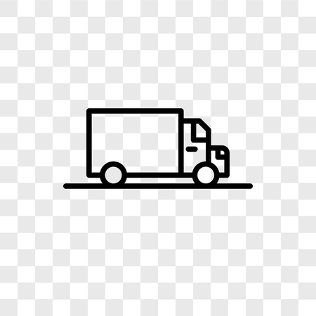 Delivery vector icon isolated on transparent background, Delivery logo concept