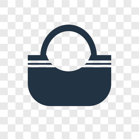 Handbag vector icon isolated on transparent background, Handbag logo concept Foto de archivo - 107679152