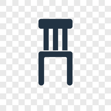 Chair vector icon isolated on transparent background, Chair logo concept