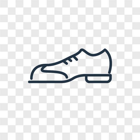 Shoes vector icon isolated on transparent background, Shoes logo concept