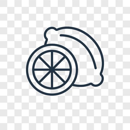 Icône de vecteur de citron vert isolé sur fond transparent, concept logo citron vert Logo