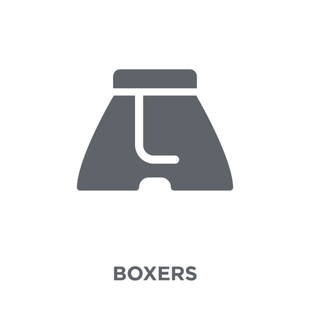 Boxers icon. Boxers design concept from Clothes collection. Simple element vector illustration on white background.
