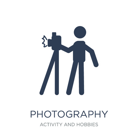 Photography icon. Trendy flat vector Photography icon on white background from Activity and Hobbies collection, vector illustration can be use for web and mobile