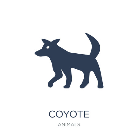 Coyote icon. Trendy flat vector Coyote icon on white background from animals collection, vector illustration can be use for web and mobile