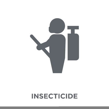 Insecticide icon. Insecticide design concept from Agriculture, Farming and Gardening collection. Simple element vector illustration on white background. Ilustracja