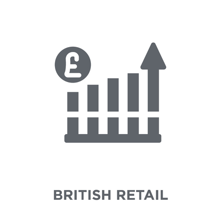 British Retail Consortium icon. British Retail Consortium design concept from British Retail Consortium collection. Simple element vector illustration on white background. Stok Fotoğraf - 111839098