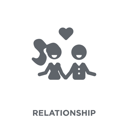Relationship icon. Relationship design concept from Wedding and love collection. Simple element vector illustration on white background.  イラスト・ベクター素材