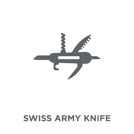 Swiss army knife icon. Swiss army knife design concept from Army collection. Simple element vector illustration on white background.
