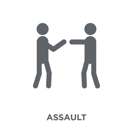 Assault icon. Assault design concept from Army collection. Simple element vector illustration on white background.
