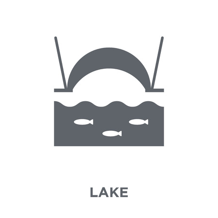 Lake icon. Lake design concept from Camping collection. Simple element vector illustration on white background. Foto de archivo - 111839010