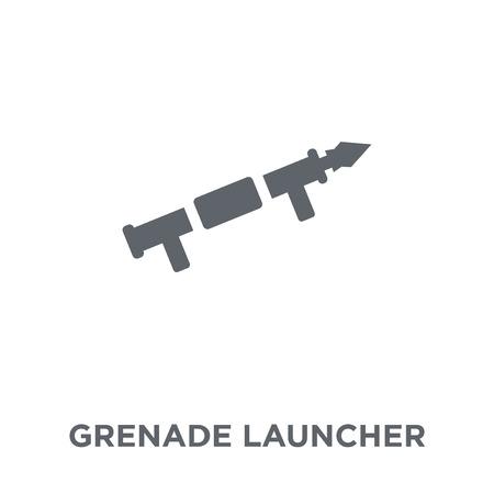 Granatwerfer-Symbol. Granatwerfer-Designkonzept aus der Armeesammlung. Einfache Elementvektorillustration auf weißem Hintergrund.