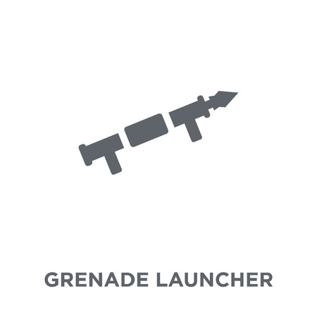 Grenade Launcher icon. Grenade Launcher design concept from Army collection. Simple element vector illustration on white background.
