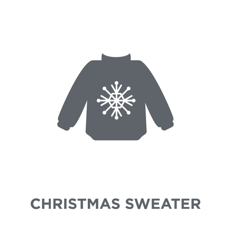 christmas sweater icon. christmas sweater design concept from Christmas collection. Simple element vector illustration on white background.