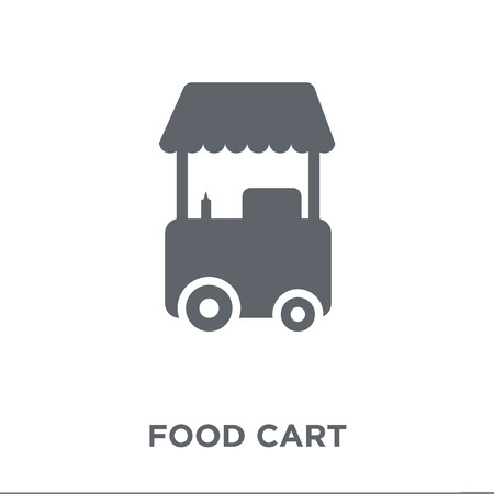 Food cart icon. Food cart design concept from Circus collection. Simple element vector illustration on white background.