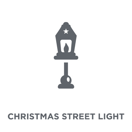 christmas Street light icon. christmas Street light design concept from Christmas collection. Simple element vector illustration on white background.