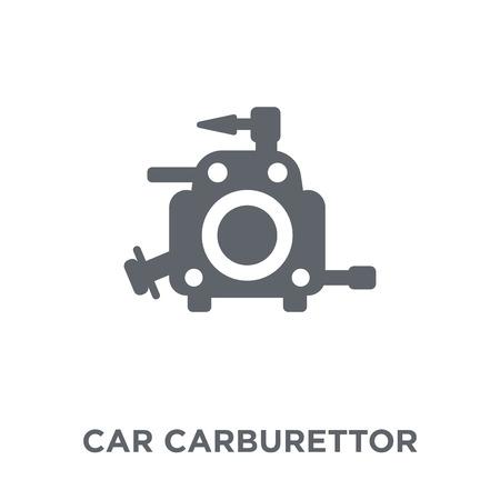 ikona gaźnika samochodu. koncepcja projektowania gaźnika samochodowego z kolekcji części samochodowych. Prosty element ilustracji wektorowych na białym tle.