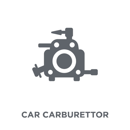 car carburettor icon. car carburettor design concept from Car parts collection. Simple element vector illustration on white background.