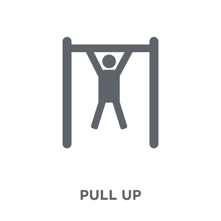 Pull up icon. Pull up design concept from Army collection. Simple element vector illustration on white background.