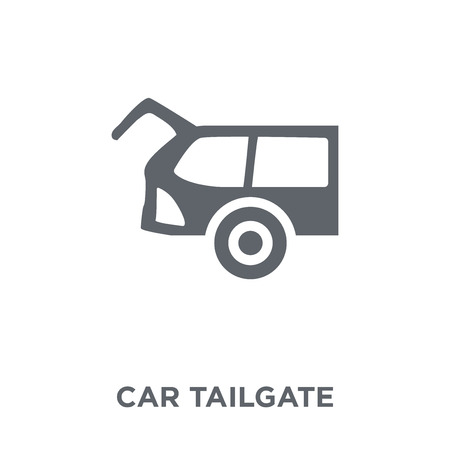 car tailgate icon. car tailgate design concept from Car parts collection. Simple element vector illustration on white background.  イラスト・ベクター素材