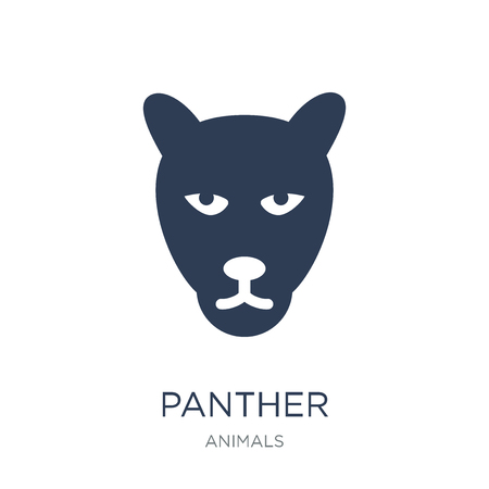 Panther icon. Trendy flat vector Panther icon on white background from animals collection, vector illustration can be use for web and mobile Çizim