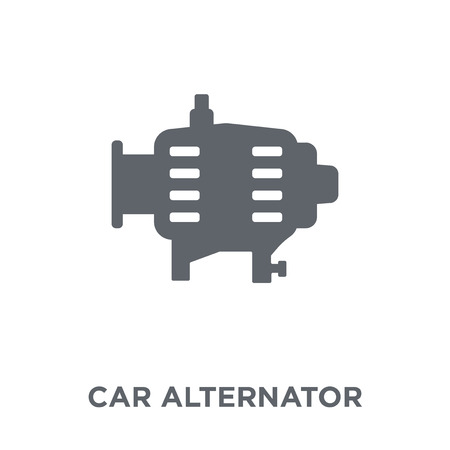 car alternator icon. car alternator design concept from Car parts collection. Simple element vector illustration on white background.