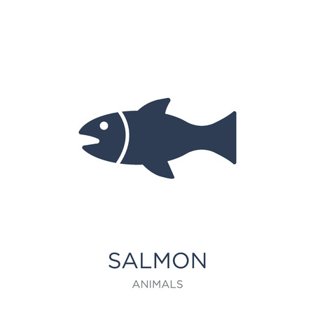 Salmon icon. Trendy flat vector Salmon icon on white background from animals collection, vector illustration can be use for web and mobile, eps10 일러스트