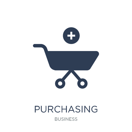 Purchasing power parity icon. Trendy flat vector Purchasing power parity icon on white background from business collection, vector illustration can be use for web and mobile, eps10