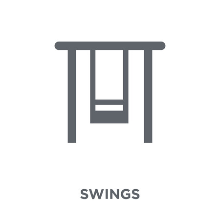 Swings icon. Swings design concept from Circus collection. Simple element vector illustration on white background.