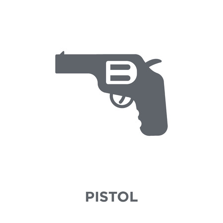 Pistol icon. Pistol design concept from Army collection. Simple element vector illustration on white background.