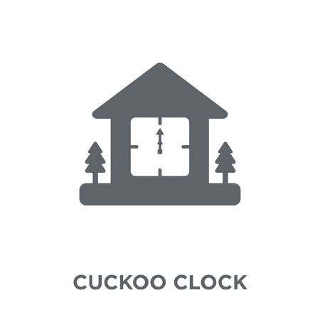 Cuckoo Clock icon. Cuckoo Clock design concept from Christmas collection. Simple element vector illustration on white background.