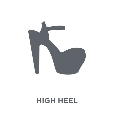 High heel icon. High heel design concept from  collection. Simple element vector illustration on white background.
