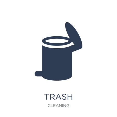 Trash icon. Trendy flat vector Trash icon on white background from Cleaning collection, vector illustration can be use for web and mobile, eps10 Illustration