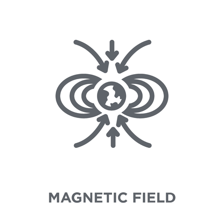 Magnetic field icon. Magnetic field design concept from Astronomy collection. Simple element vector illustration on white background.