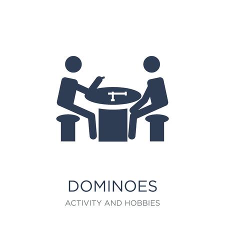 Icono de dominó. Icono de dominó de moda vector plano sobre fondo blanco de la colección de actividades y pasatiempos, Ilustración de vectores se puede utilizar para web y móvil, eps10