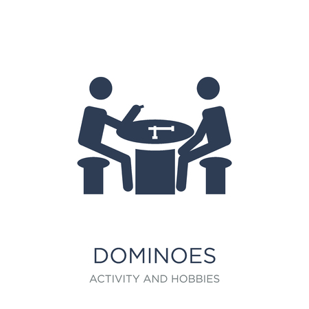 Dominoes icon. Trendy flat vector Dominoes icon on white background from Activity and Hobbies collection, vector illustration can be use for web and mobile, eps10