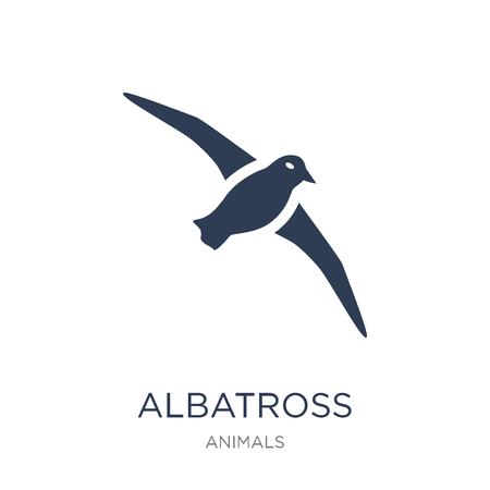 albatross icon. Trendy flat vector albatross icon on white background from animals collection, vector illustration can be use for web and mobile, eps10