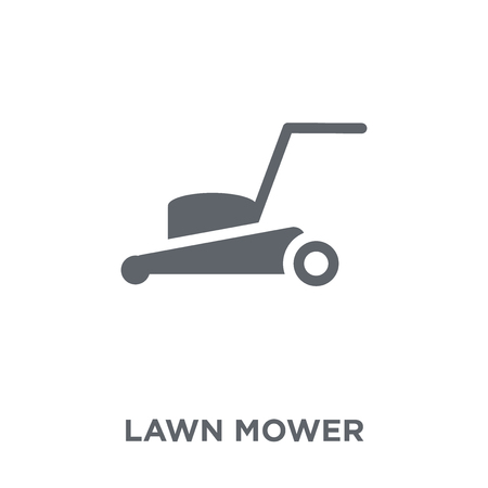 Lawn mower icon. Lawn mower design concept from Agriculture, Farming and Gardening collection. Simple element vector illustration on white background. Standard-Bild - 111876246