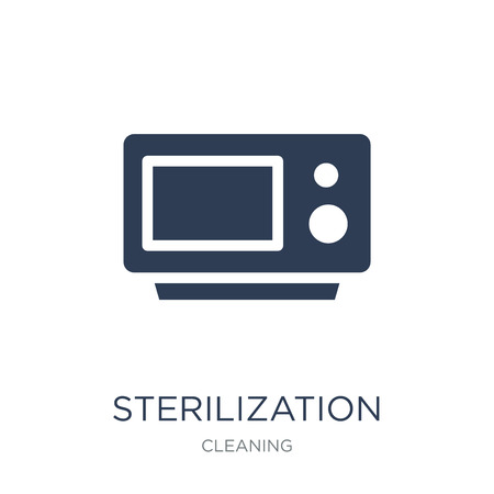 sterilization icon. Trendy flat vector sterilization icon on white background from Cleaning collection, vector illustration can be use for web and mobile, eps10