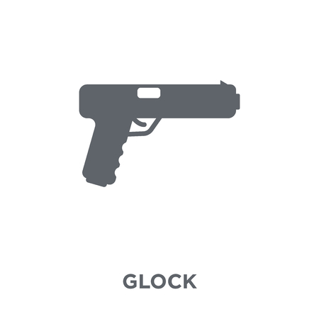 glock icon. glock design concept from Army collection. Simple element vector illustration on white background. Standard-Bild - 111876241
