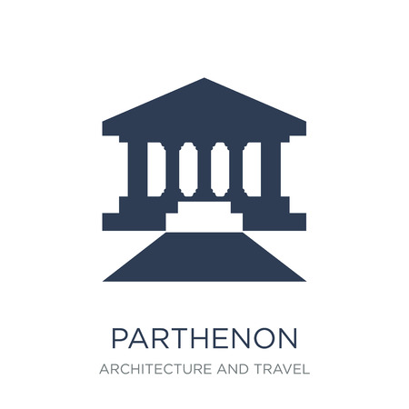 Parthenon icon. Trendy flat vector Parthenon icon on white background from Architecture and Travel collection, vector illustration can be use for web and mobile, eps10