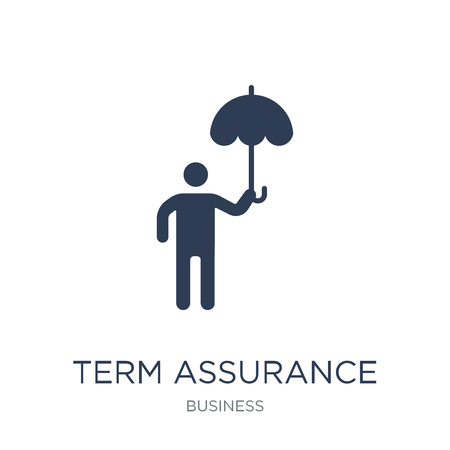 Term assurance icon. Trendy flat vector Term assurance icon on white background from business collection, vector illustration can be use for web and mobile, eps10